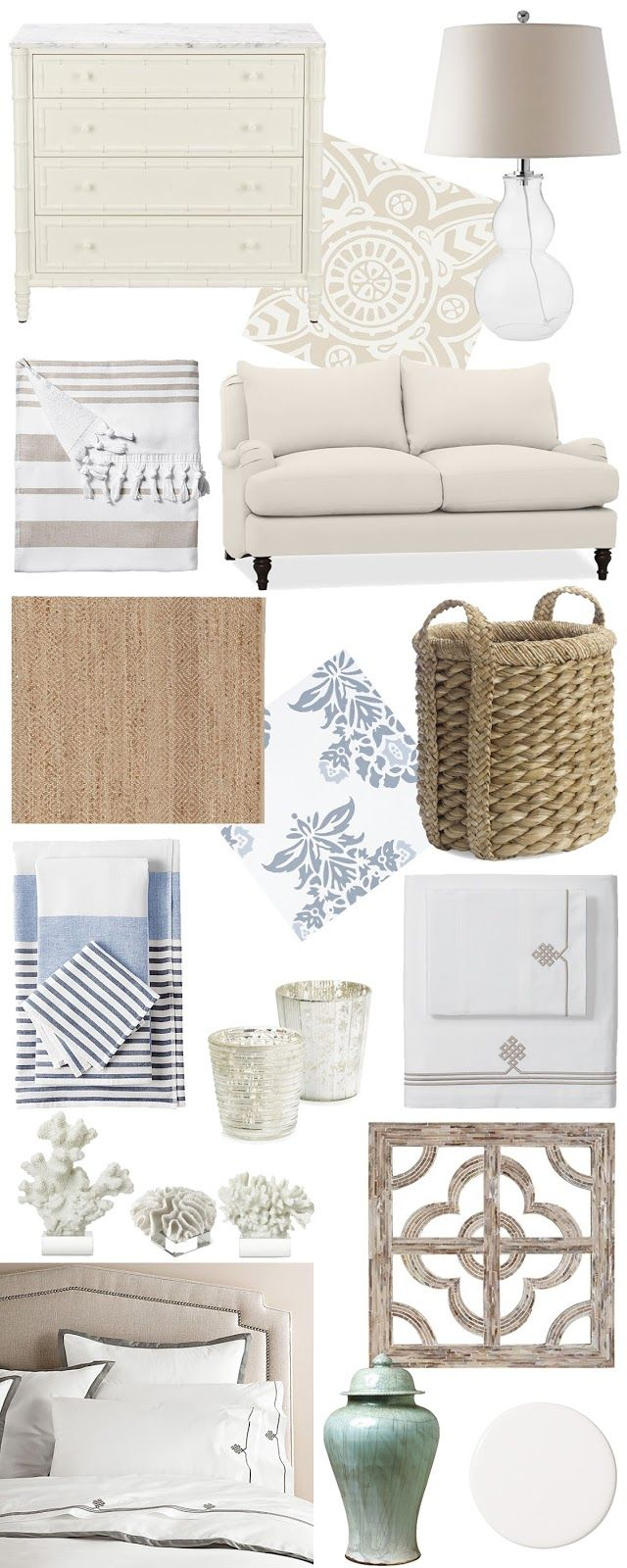 Coastal Decor White Wicker Simplistic Furniture Home Decor