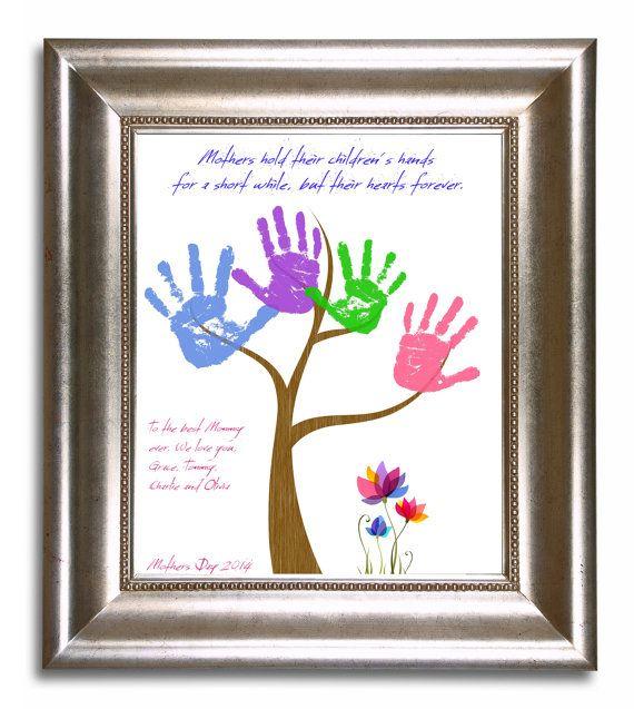 Diy Mother 39 S Day Handprint Tree Keepsake Art For Grandma
