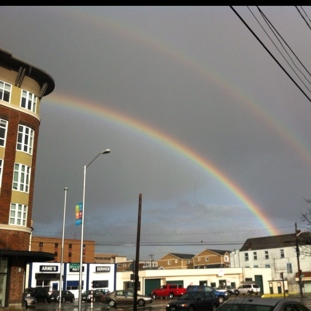 Double rainbow over Seattle