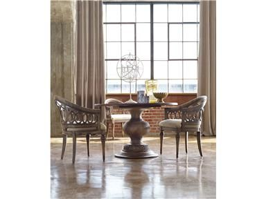 Shop For Hooker Furniture Cambria 48 Inch Table And Other Dining Room Tables An Interlocking Circle Motif On The Base Of
