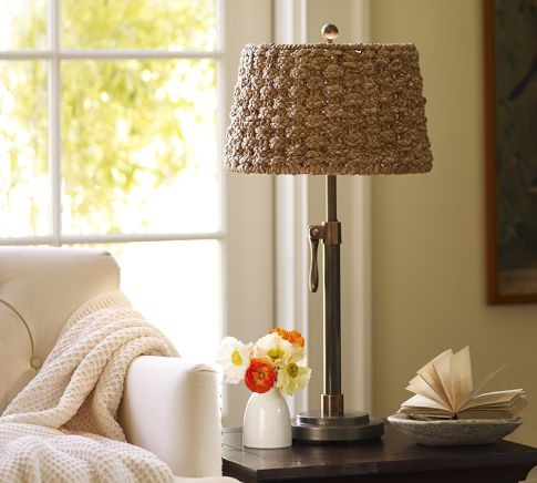 Holbrook Seagrass Tapered Drum Lamp Shade | Pottery Barn