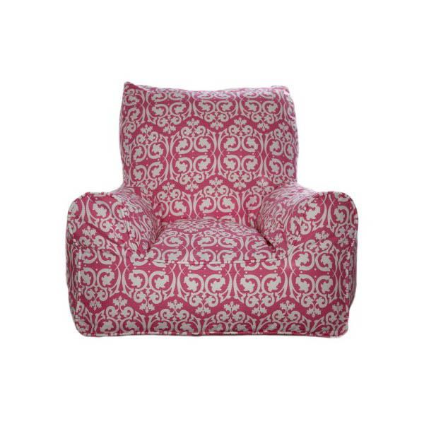 Lelbys-Kids Bean Bags-Bean Chair {Damask Pink}  $109.00 #limetreekids #toys #kids #play #lounge #beanbag