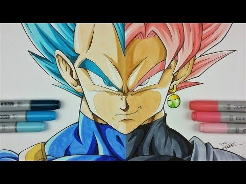 Drawing VEGETA vs GOKU Black | Dragonball Super | TolgArt - YouTube