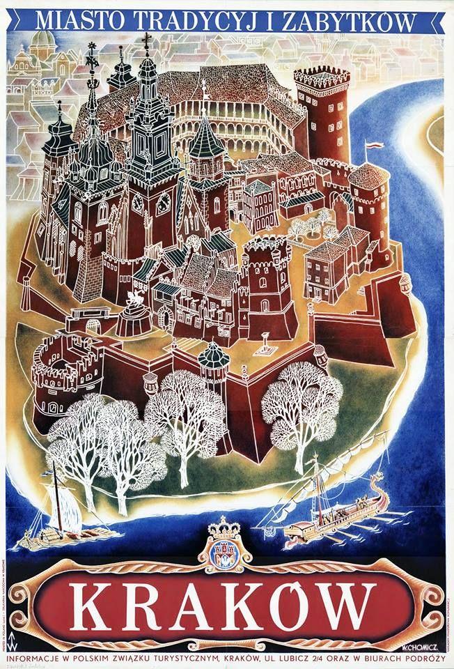 Plakat Reklamujący Kraków 1935 R Rys W Chomicz Made In
