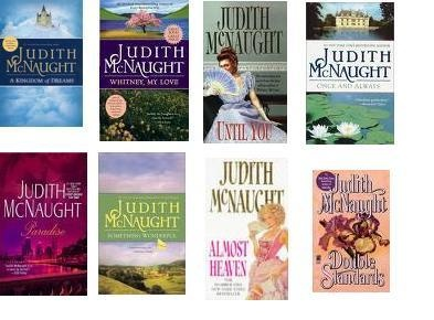 Romance books - every gal's favourite topic but I love Judith McNaught's books especially those written in the olden centuries...