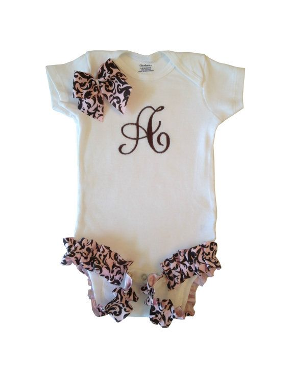 Personalized Baby Girl Onesie by PreciousBabyAttire on Etsy, $19.00
