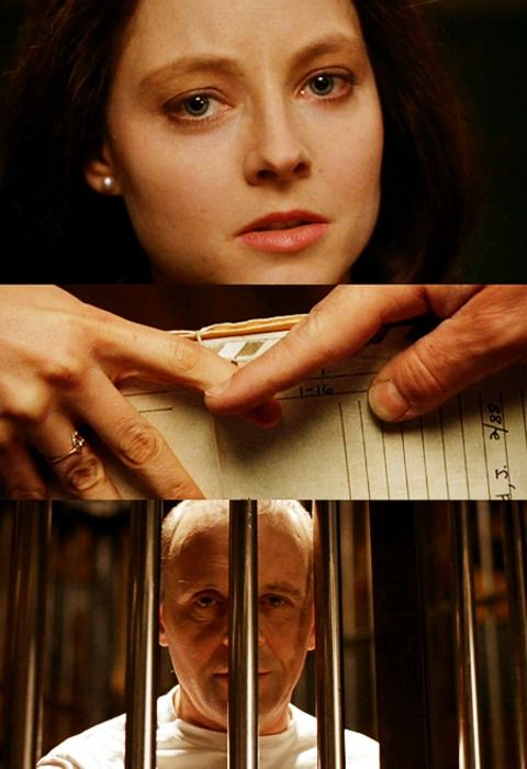 Hannibal & Clarice in Silence Of The Lambs (1991)