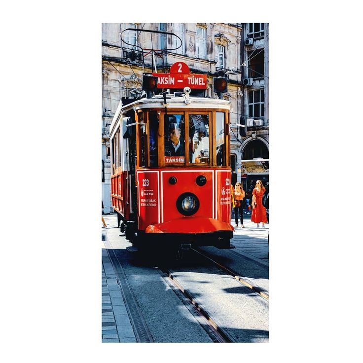 Trams in Taksim.  Istanbul does the balancing act of vintage and modern, Asia an…