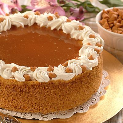 Butterscotch Caramel Cheesecake  Instead of putting the caramel on top I just drizzled some on each piece. It's one of the best cheesecakes I've ever had! Amazing!
