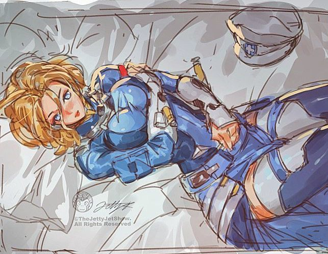 Mercy Bed Time By Thejettyjetshow Overwatch Fan Art Mercy Fanart Anime
