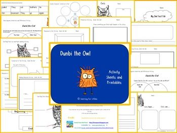 Printable open-ended response activities for the Aboriginal Dreamtime story, Dunbi the Owl, told by Daisy Utemorrah; retold and illustrated by Pamela Lofts. Ideal for NAIDOC activities. Available from my Teachers Pay Teachers store, Learning for Littlies. https://www.teacherspayteachers.com/Store/Learning-For-Littlies