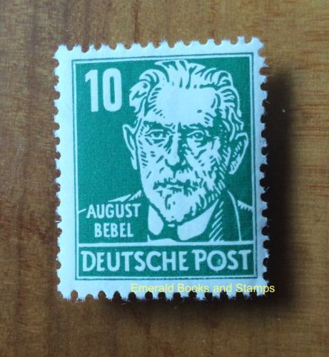 EBS East Germany DDR 1953 August Bebel 10Pf MNH Michel 330v** in Stamps, Europe, Germany & Colonies | eBay