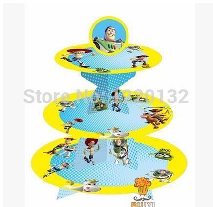 1 комплект комикс игрушка история день рождения младенцы душ ну вечеринку картон кекс стойка держать 24 кексы купить на AliExpress