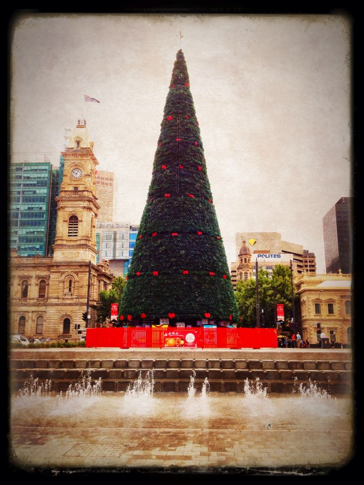 Christmas in Victoria Square, Adelaide.