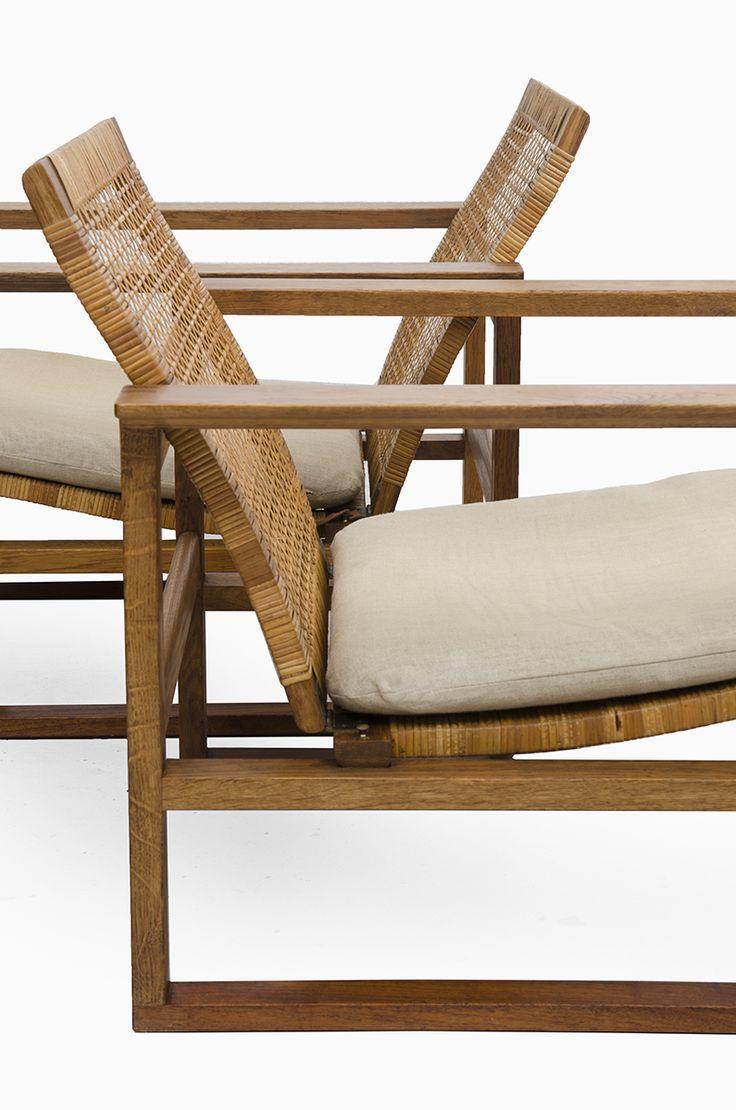 børge mogensen, #2256 sled easy chair for fredericia stolefabrik, 1956