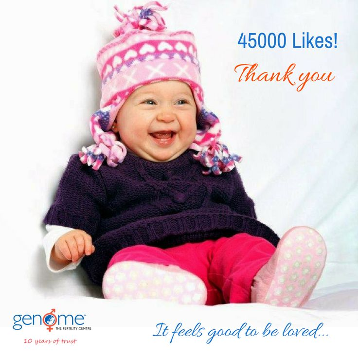 Now we have over 45000 Facebook Fans Thank you everyone for the wonderful support !! Keep inspiring us with your Likes, Shares & Comments on our posts. Stay Connected to GENOME The Fertility Centre  #fertilitycentre #infertility #ivf