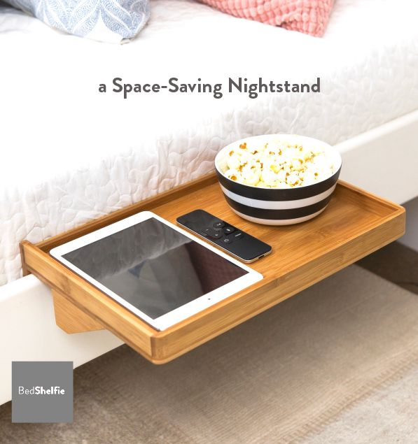 Bedside Shelf / A Space Saving, Floating Nightstand Table For Small  Bedrooms, Loft Beds, Modern College Dorms U0026 Contemporary Loft Beds /  Minimalist Bedside ...