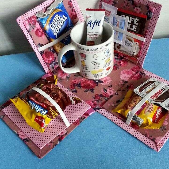 Caixa de cafe da manhã em cartonagem