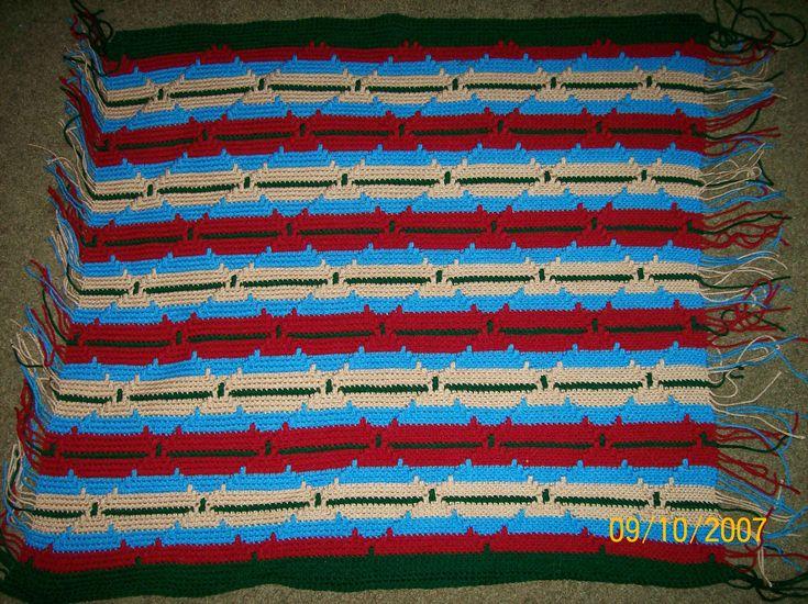 Free Crochet Pattern Navajo Afghan : Crochet Navajo Pattern Craft Ideas Pinterest Navajo ...