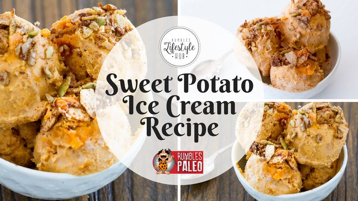 Sweet potato and ice cream?? That's right. This is a Rumbles recipe that has to be tried to be believed. It may just change your life.
