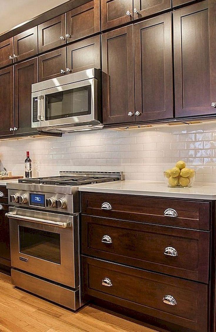 9 Beautiful Kitchen Backsplash Decor with Dark Cabinets ...