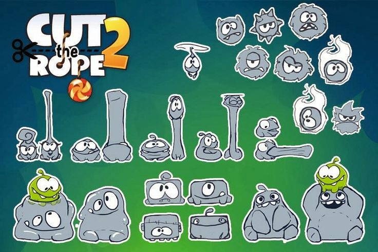 """Cut The Rope"": Tips, Tricks and High Scores: Initial Graphic Designs and Sketches by ZeptoLab"