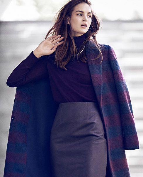 a plaid coat, i love...