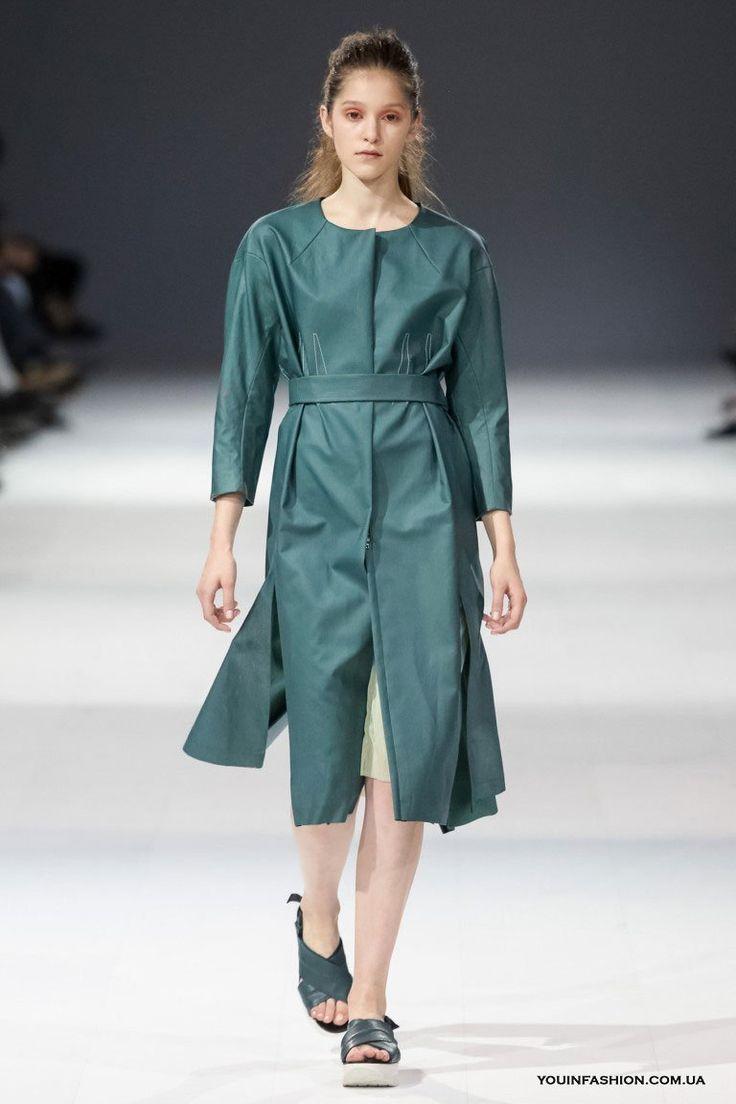 Модные кожаные пальто 2017