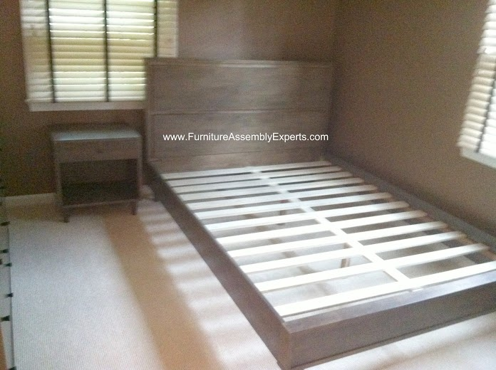 Overstock Queen Size Bed And Night Stand Assembled In Silver Spring MD By  Furniture Assembly Experts
