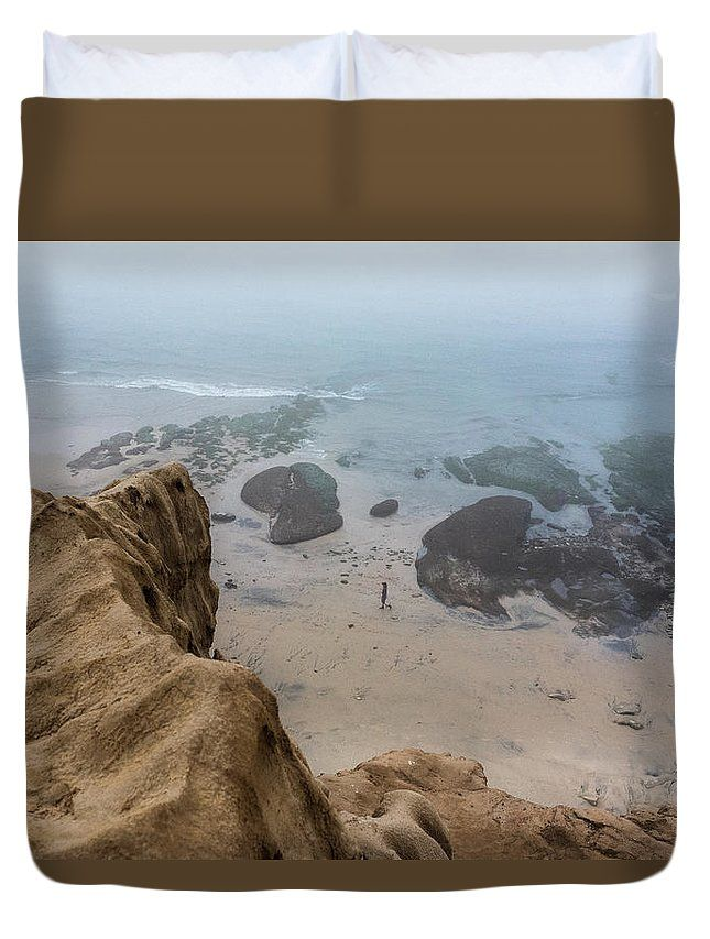 """Fog Paradise"" Landscape photography on a Duvet Cover by Valerie Rosen Photography"