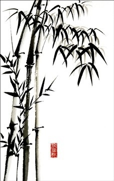 christinebrassington.com Most of the Japanese bamboo paintings from ancient times that have been discovered by archaeologists were created by the followers of Buddhism and Zen Buddhism.