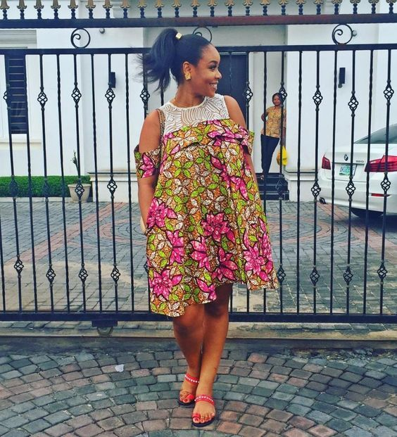 Temmie House Of Fashion: Lovely Ankara Short Gown For The Smart Ladies