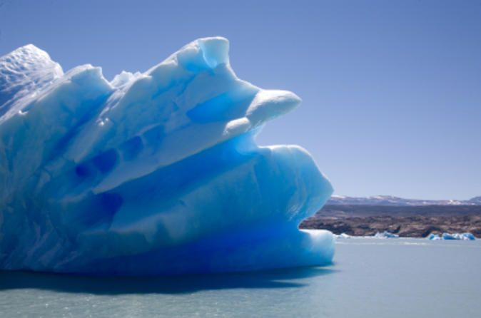 El Calafate Glaciers Sightseeing Cruise Get up close and personal with the largest glaciers in the El Calafate region on a full-day sightseeing cruise. Sail through Lake Argentino and admire the majestic beauty and size of the Upsala and Spegazzini glaciers. Then, enjoy lunch on the boat while sailing back to El Calafate!   Departing from El Calafate, you'll enjoy a scenic 31-mile (50-km) drive through the Patagonian province of Santa Cruz. Upon reachin...