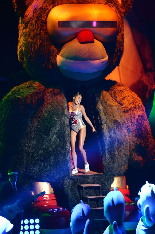 WHAT MILEY CYRUS ACTUALLY DID: Miley came out of a monkey's chest. | This Is Why Miley Cyrus' VMA Performance Was A Failure