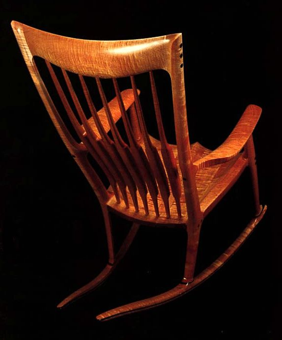 Sam Maloof rocking chair- truly one of the most beautiful chairs I've ever seen.