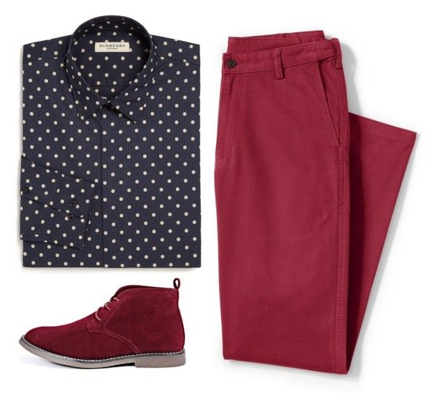 """""""For school"""" by the-reyd on Polyvore featuring Burberry, Lands' End, BoohooMAN, men's fashion и menswear"""