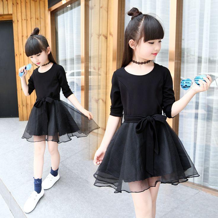 $22.89 (Buy here: https://alitems.com/g/1e8d114494ebda23ff8b16525dc3e8/?i=5&ulp=https%3A%2F%2Fwww.aliexpress.com%2Fitem%2Flittle-big-girl-dress-long-sleeve-autumn-kid-girl-clothes-mesh-patchwork-black-princess-dresses-for%2F32705969894.html ) little big girl dress long sleeve autumn kid girl clothes mesh patchwork black princess dresses for girls 2016 fashion clothing for just $22.89