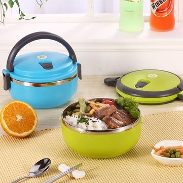304 Stainless Steel Lunch Box Portable Bento Food Containers Dinnerware Set