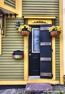 Beautiful doorway in downtown St. John's, NL