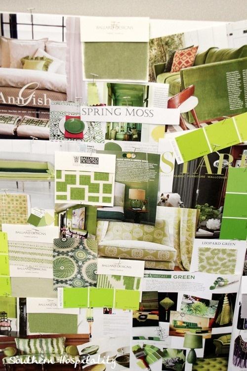 Ballard Designs mood board - green