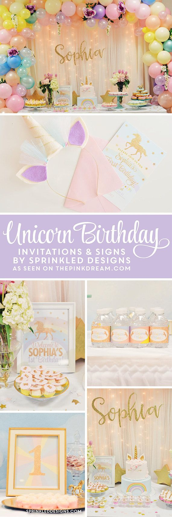 Unicorn Birthday Invitation Unicorn Invitation Unicorn Party