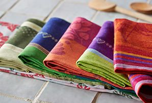 Just Jacquard: Traditionally Woven Kitchen Linens