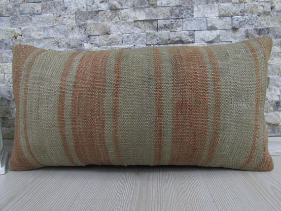 handmade pillow cover vintage kilim rug turkey pillow 10x20