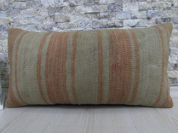 handmade pillow cover vintage kilim rug turkey pillow 10x20
