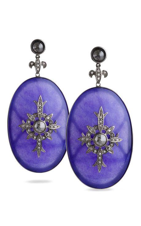 Moorish Shield Earrings by Bochic for Preorder on Moda Operandi