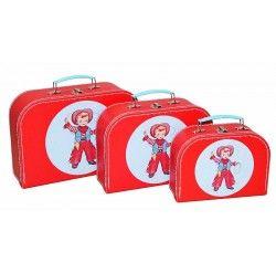 Alimrose Kids Carry Case Set 3pcs - Cowboy