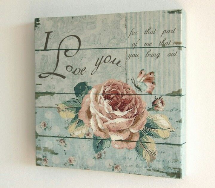 Cuadro vintage vintage pinterest shabby chic chic and love this - Pinterest deco vintage ...