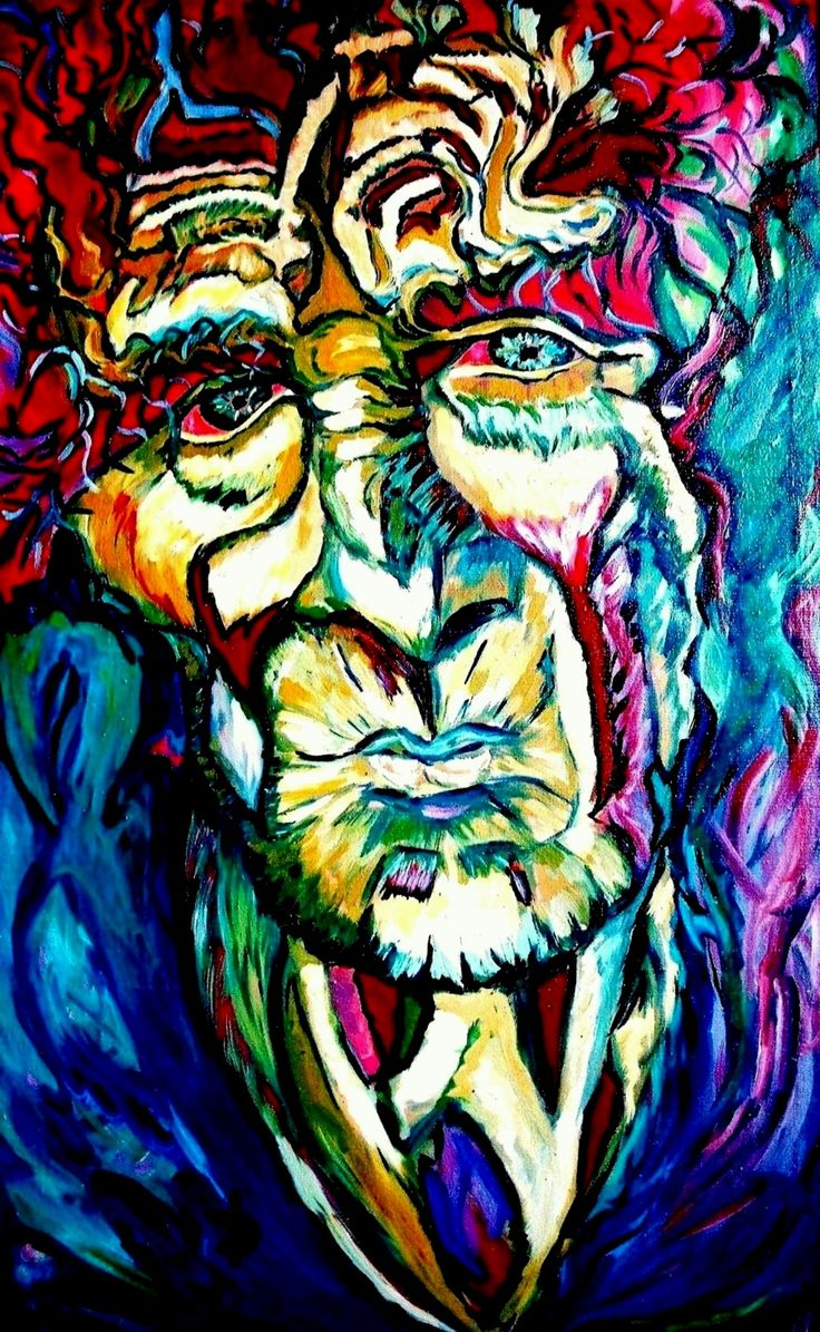 Mysterious Old Man Oil on canvas, Size:110 x 60 cm  Price: 850 dollars