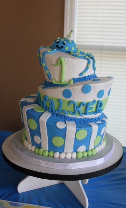 Baby Boy Birthday Cake Pics