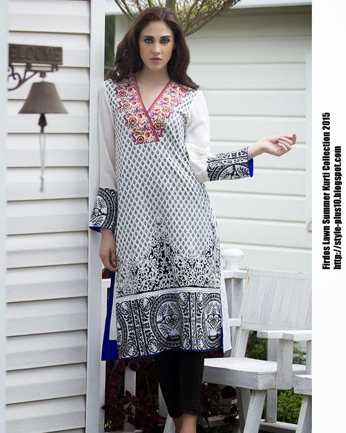 15-EXC-K4B From FIRDOUS Carnival Kurti Collection 2015
